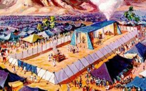 The court of the tabernacle. Why a god would be concerned with such things defeat explanation.