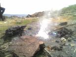 very hot spring