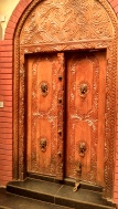 The swahili door to the mausoleum