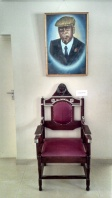 I don't know how presidential this seat feels, but they labeled it president's chair