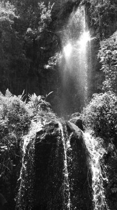 This is the same waterfall before the invention of colour photography