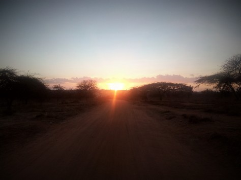 Sunset somewhere in Kajiado